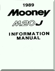 Mooney M.20 J Aircraft Information  Manual - 1989