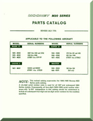 Mooney M.20 C E F G Aircraft  Illustrated Parts Manual - 1976 -2