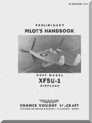 Vought XF5U-1 Aircraft Flight Pilot's Handbook Manual - 1946