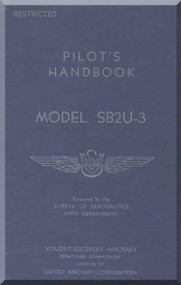VOUGHT Sikorsky   SB2U-3 Vindicator Aircraft Flight Handbook Manual