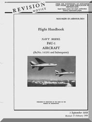 "Vought F8U-1 "" Crusader "" Aircraft Flight Handbook Manual - 01-45HHA-501-1"
