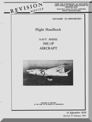 "Vought F8U-1P "" Crusader "" Aircraft Flight Handbook Manual - 01-45HHB-501 - 1958"