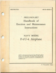 Vought F4U-4  Aircraft Preliminary Erection & Maintenance Instructions , AN 01-45HB-2 , 1944