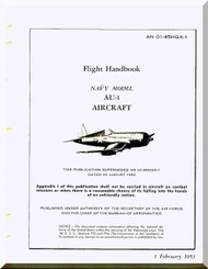 Vought AU-1 Flight  Handbook of flight operation instructions , AN 01-45HGA-1 , 1953