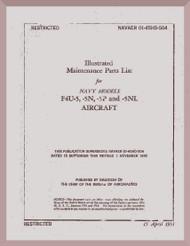 Vought F4U-5,-5N,-5NL-5P  Illustrated Maintenance Part List   AN 01-45HD-504 , 1951