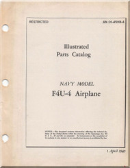Vought FAU-4  Aircraft Illustrated Parts Caralog Manual , AN 01-45HB-4 , 1945