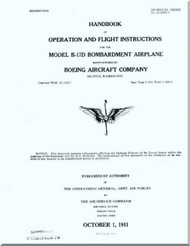Boeing B-17 D Aircraft Operation and Flight Instruction Instructions  Manual -  AN 01-20ED-1 ,   1941