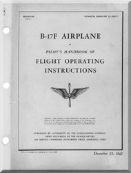 Boeing B-17 F Aircraft Flight Operation Instructions  Manual -  AN 01-20EF-1 ,   1942