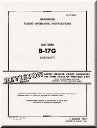 Boeing B-17 G Aircraft Handbook Flight Operating Instructions  Manual -  AN 01-20EG-1 ,   1944