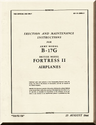 Boeing B-17 G Aircraft Erection and Maintenance Instructions  Manual -  AN 01-20EG-2 ,   1944