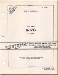 Boeing B-17 G Aircraft Parts Catalog  Manual -  AN 01-20EG-4 ,   1945