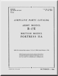 Boeing B-17 E Aircraft Parts Catalog  Manual -  AN 01-20EE-4 ,   1943