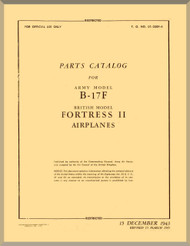Boeing B-17 F Aircraft Parts Catalog Manual -  AN 01-20EF-4 ,   1943