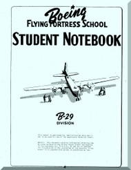 Boeing B-29 Aircraft Student Notebook  Manual -  1943