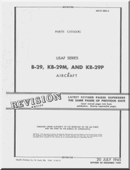Boeing B-29 , KB-29M, KB-29P Aircraft Parts Catalog  Manual -  T.O. 01-20EJ-4 ,   1944