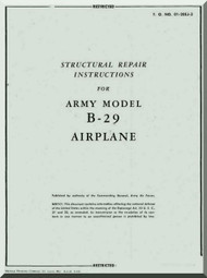 Boeing  B-29  Aircraft Structural Repair Manual - 01-20EJ-3