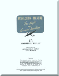 Boeing B-29  Aircraft  Inspection  Manual - Pre-Flight and Ground Handling  ,   1945