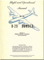 Boeing B-29  Aircraft  Flight and Operational Operating  Manual -  ,   1945