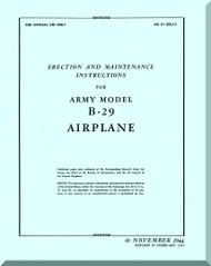 Boeing B-29 Aircraft Erection and Maintenance Manual   Manual -  T.O. 01-20EJ-2 1945