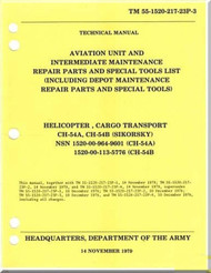 Sikorsky S-64 CH-54 A B Helicopter Maintenance  and Parts Manual - 55-1520-217-23P-3