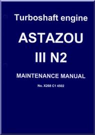 Turbomeca Astazou III N2 Aircraft Helicopter Engine Maintenance  Manual