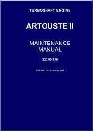 Turbomeca Artouste II C Aircraft Helicopter Engine Maintenance Manual - 1960