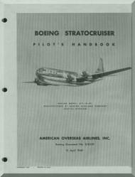 Boeing Stratocrusers Aircraft Pilots Handbook  Manual -  American Overseas Airlines , 1949