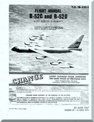 Boeing B-52 C , D Aircraft Flight  Manual -  T.O. 1B-52C-1 , 1967