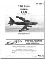Boeing B-52 D Aircraft Flight  Manual Performance -  T.O. 1B-52D-1-1 , 1979