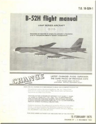 Boeing B-52 H Aircraft Flight  Manual -  T.O. 1B-52H-1 , 1975