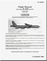 Boeing B-52 H Aircraft Flight  Manual -  T.O. 1B-52H-1 , 1996