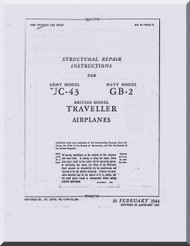 Beechcraft UC-43 GB-2 Staggerwing / Traveller  Aircraft Structural Repair Manual