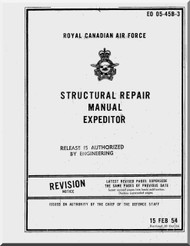 Beechcraft  Expeditor Aircraft Structural Repair  Manual  - EO 05-45B-3 - 1954