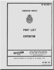 Beechcraft  Expeditor Aircraft Part List Manual  - EO 05-45B-4 - 1961