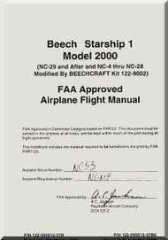 Beech Beechcraft 2000 Starship 1  Aircraft Flight Manual