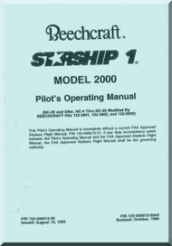 Beech Beechcraft 2000 Starship 1  Aircraft Pilot's Operating  Manual - 1995