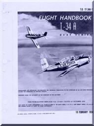 Beechcraft T-34 A  Aircraft  Flight  Manual -  1958
