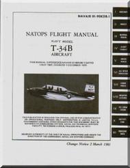 Beechcraft T-34 B  Aircraft  Flight  Manual - , 1981