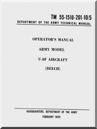 Beechcraft U-8F Aircraft  Operator Manual 1969