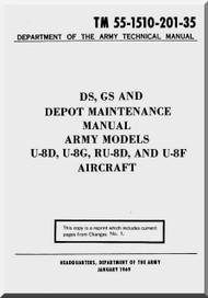 Beechcraft U-8 D F Aircraft  Maintenance Manual 1969
