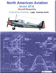 North American Aviation AT-6  Aircraft Blueprints Engineering Drawings - DVD