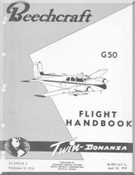 Beechcraft G 50 Aircraft Flight Manual Handbook