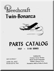 Beechcraft E 50  Aircraft  Parts Catalog  Manual