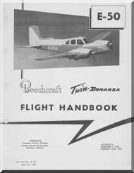 Beechcraft E 50  Aircraft  Flight  Manual - 1959