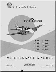 Beechcraft F G H J D 50 A B C E  Aircraft Maintenance Manual