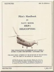 Piasecki HRP-1  Helicopter Pilot's Handbook  Manual - AN 01-25OHA-1 , 1950