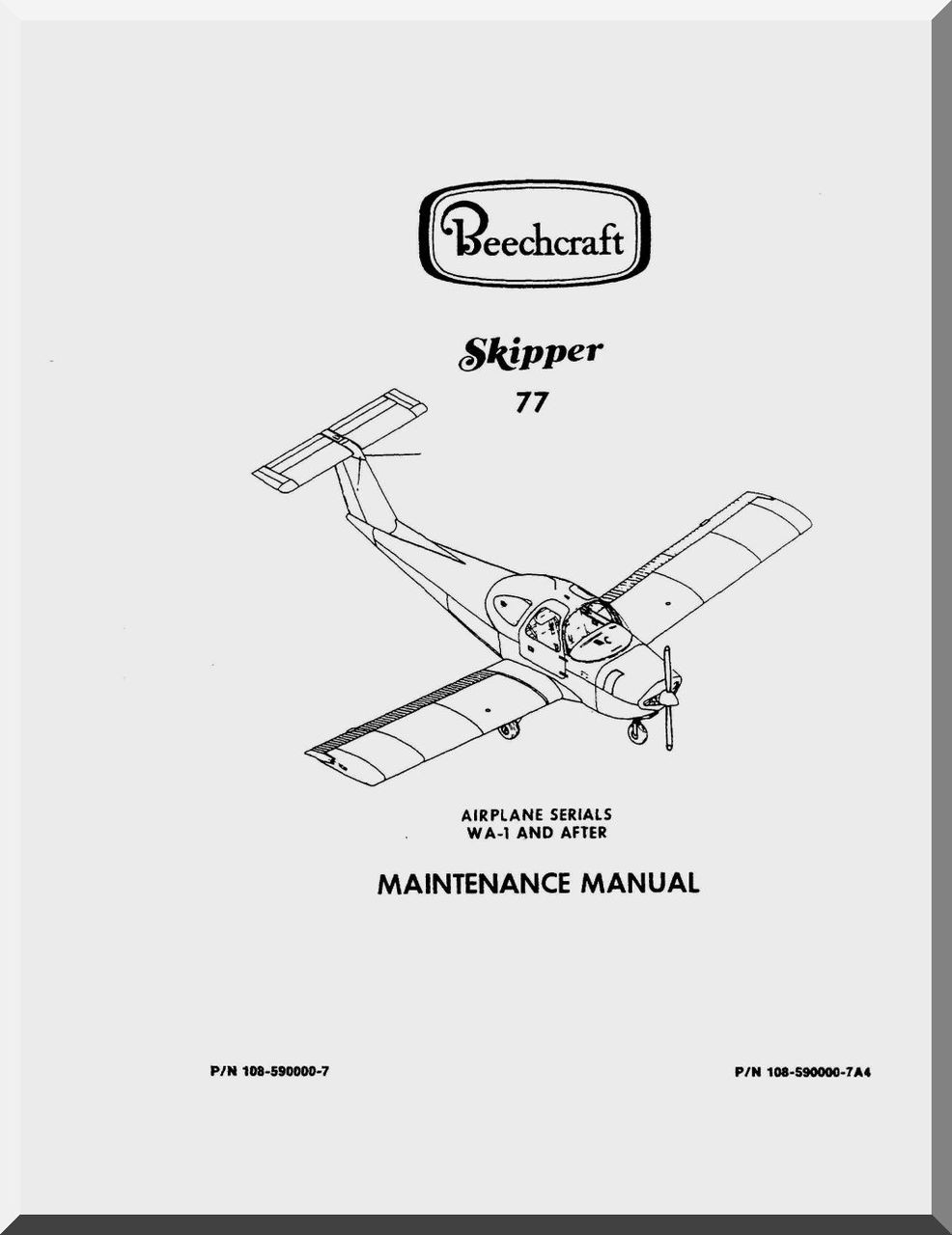 Beechcraft Skipper 77 Aircraft Maintenance Manual