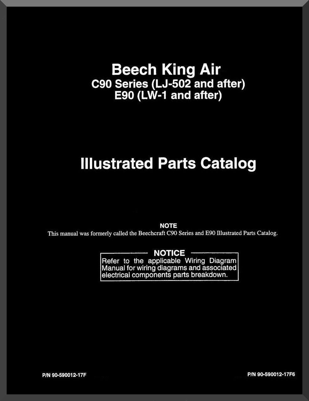 Beechcraft King Air C E 90 Aircraft Illustrated Parts Catalog Manual
