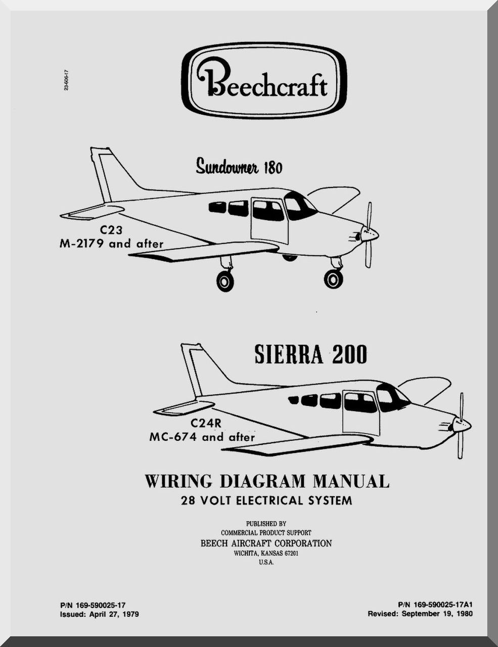 Beechcraft Sundowner 180 Sierra 200 Aircraft Wiaring