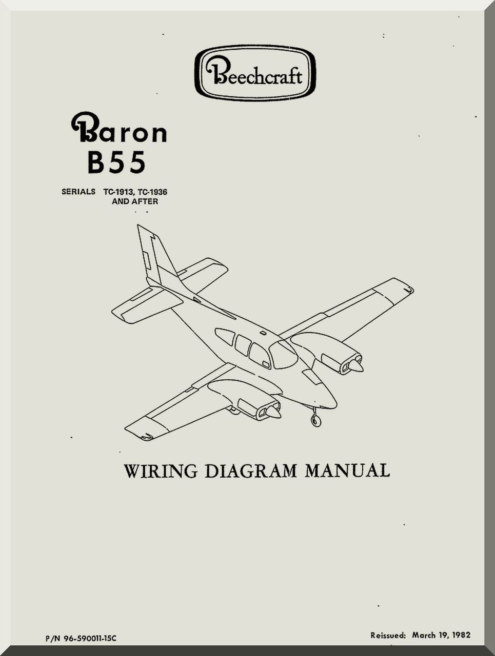 Beechcraft Baron B 55 Aircraft Wiring Diagram Manual